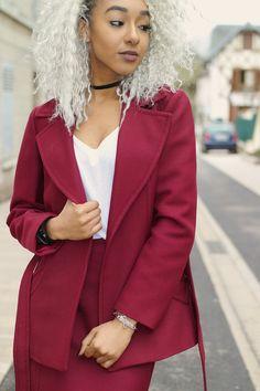 Ensemble tailleur jupe vintage années 70 de la boutique Imodivintage sur Etsy