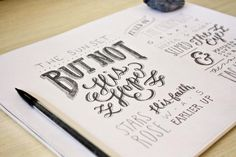 Hand lettering well done