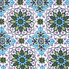 Keepsake Calico Fabric- Medallion Geo Blue