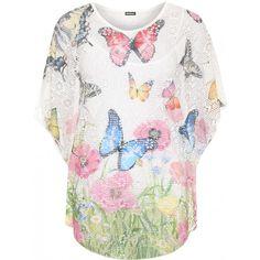 Eleonore Crochet Butterfly Top