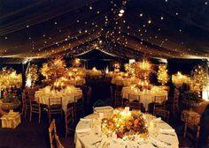 Autumn wedding at twilight