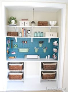 Take your hobby to the next level by turning a closet into a craft corner!