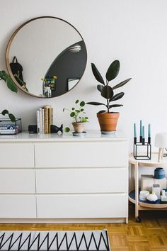 Trying to incorporate that boring IKEA Malm dresser into my new cool Scandinavian style room interior design, part 3