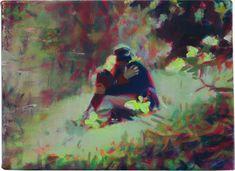 929 — Jungfrau (kiss) — 2016 — huile sur toile — 16 x 22 cm                  Nina Childress