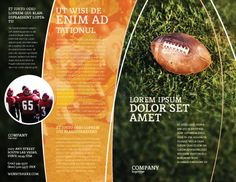 american football play off brochure template outer page