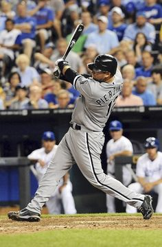 White Sox catcher A.J. Pierzynski gets the tying hit in the ninth inning