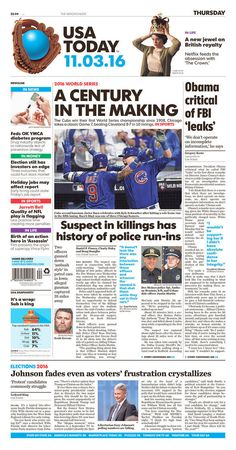 The Most Memorable Newspaper Covers From The Chicago Cubs World Series Win