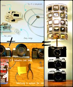 ReFab Diaries: Repurpose: Vintage camera lamp / slide shade ...