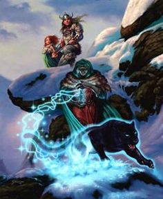Drizzt Do'Urden's and the whole Forgotten Realms High Fantasy, Dark Fantasy Art, Fantasy Rpg, Fantasy Artwork, Drizzt Do Urden, Forgotten Realms, Goth Art, Comic Pictures, Animals