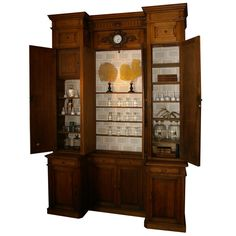 French Apothecary Cabinet France 19th Century Rare Apothecary Cabinet From  A Former Parisian Pharmacy Which Was