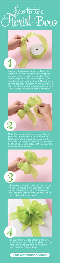 Learn how to tie a Florist Bow in just a few easy steps!