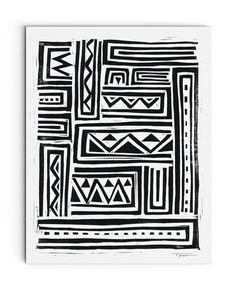 Geometric Tribal Art || Statement Goods