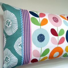 Contemporary Oblong Patchwork Pillow / Cushion by madebylisajane, £26.00