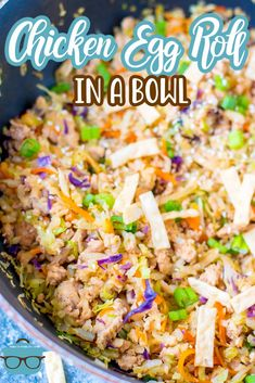 This recipe for Chicken Egg Roll in a Bowl is a fun and unique spin on your traditional egg roll recipe. Easy, flavorful and just a handful of ingredients! Best Grill Recipes, Egg Roll Recipes, Entree Recipes, Asian Recipes, Cooking Recipes, Healthy Recipes, Ethnic Recipes, Chinese Recipes, Chinese Food