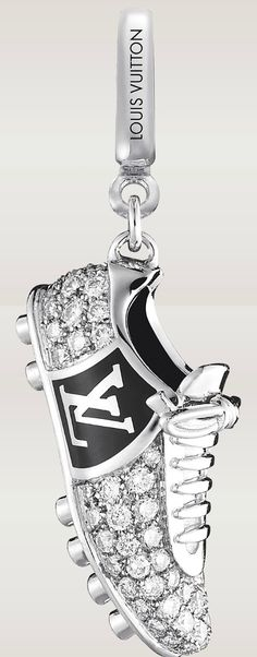 Louis Vuitton Men's Diamond Football Boot Charm In White Gold