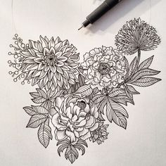 #illustration #drawing #draw #handdrawn #ink #loveit #flow #illustrationdrawing #art #artwork #blackandwhite #pattern #patternmaking #drawingoftheday #penandink #penandpaper #linework #patterndesign #illustree #fineliner #sketchdaily #design #naturelovers #flowers #selfmade