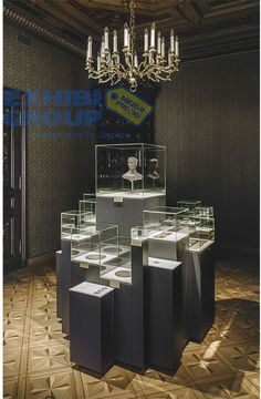 Design studio (Riga, Latvia), commissioned by the Bank of Latvia (central bank of Latvia), has developed a multimedia exposition devoted to the anniversary of the re-introduction of the national currency lats. The purpose of the exhibition is to … Jewelry Store Displays, Jewellery Shop Design, Jewellery Showroom, Jewellery Display, Jewelry Stores, Display Design, Booth Design, Shop Interior Design, Retail Design