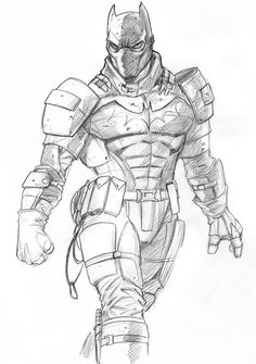Jeff West: Batman Sketch. I like this, but it looks more like Shredder than Batman