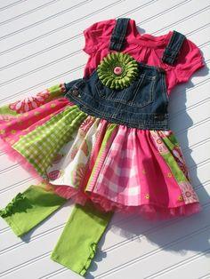 GYPSY overall jumper dress Custom ODOD size 2T by littlebitsbylisa, $70.00