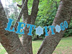 'LET IT GO' handmade banner for a Frozen themed birthday party, cake smash, wedding, baby shower or any other Frozen themed celebration!