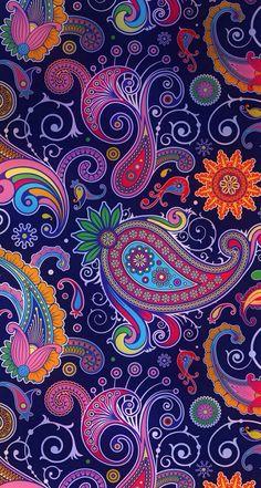 Pin by paulina pastrana on wallpaper in 2019 image ecran, fond ecran, image Hipster Wallpaper, Colorful Wallpaper, Wallpaper Backgrounds, Paisley Wallpaper, Iphone Wallpapers, Paisley Art, Paisley Pattern, Paisley Design, Batik Pattern