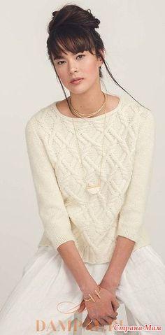 """Пуловер """"Janus"""" с рукавами, связанными сверху вниз. - Вязание - Страна Мам"""