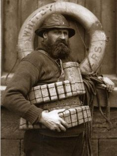 Henry Freeman..Whitby fisherman and lifeboatman..Photo by Frank Meadow Sutcliffe..