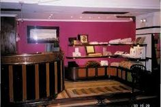 bright colour behind shelves - Google Search