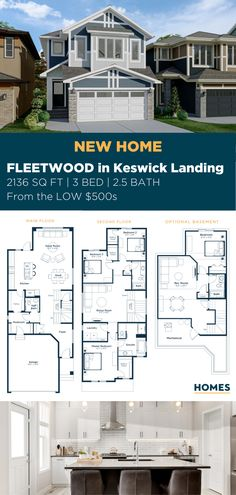 Our Fleetwood model is ideal for growing families with 3 bedrooms, 2.5 bathrooms starting from the LOW $500s. #CalgaryHome #ExcelHomes #LivingRoomDecor #LivingRoomDesign #LivingRoomInspiration 3 Bedroom Home Floor Plans, Small House Floor Plans, Build Your House, Building A House, Living Room Designs, Living Room Decor, Basement Insulation, New Homes, Basement Bedrooms