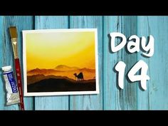 Day 14 of 21 Days of Summer | How to paint a dessert with a camel - YouTube