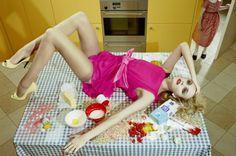 """Home Works"" Caroline Trentini by Miles Aldridge for Vogue Italia"