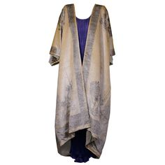 Mariano Fortuny - Fortuny Banana Stencilled Velvet Coat, Provenance Tina Chow