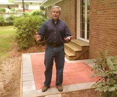 Better Homes and Gardens contributing editor Danny Lipford shows you how to build a paver patio.