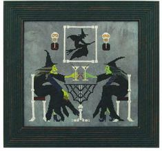 Martini Witches - Cross Stitch Pattern  by Prairie Moon. $12.59
