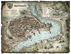 Fictional City Maps by Mike Schley, via Behance