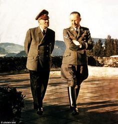 Adolf Hitler with Heinrich Himmler. Military Photos, Military History, Luftwaffe, The Third Reich, History Facts, World History, Colorful Pictures, World War Two, Wwii