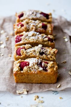 Raspberry and Apple Breakfast Slice with Oat Streusel | Cookbook Recipes
