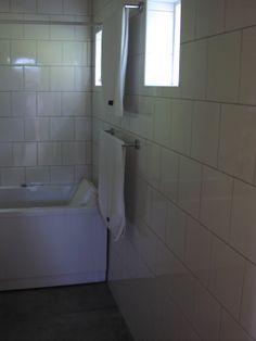 Badrummet var förstås klart redan till inflyttningen 2014-02-16
