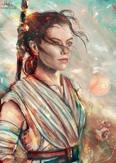 """""""The belonging you seek is not behind you. It is ahead."""" Rey by Monika Gross aka Moishpain"""