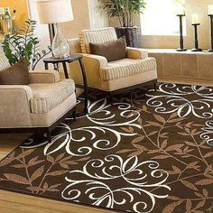 Better Homes And Gardens Iron Fleur Area Rug   Walmart.com