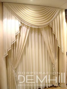 Hanging Curtains, Curtains With Blinds, Window Curtains, Valences For Windows, Modern Curtains, Elegant Curtains, Valances, Beautiful Curtains, Window Dressings