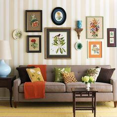 Combine thrift store finds and bargain buys into a fun, colorful gallery: http://home-furniture.net/...
