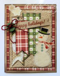 card christmas snowman simple stories handmade holidays