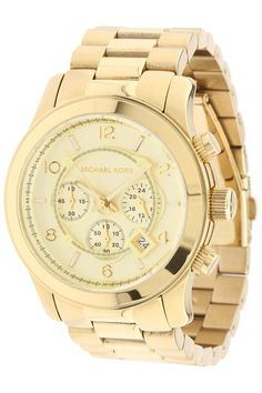 Michael Kors MK8077 Runway Chronograph (Gold) Watches - Michael Kors, MK8077 Runway Chronograph, MK8077, Accessories Watches Women's Water Resistant, Watches, Watches, Jewelry, Gift, - Street Fashion And Style Ideas