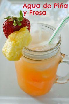 Agua De Piña Y Fresa – Pineapple And Strawberry Agua