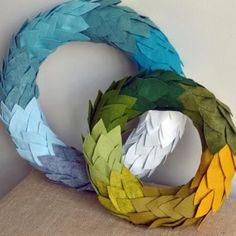 Ombre felt wreath #cute #idea #fall #christmas #diy