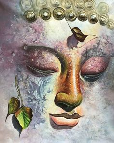Ganesha Art, Krishna Art, Easy Canvas Art, Acrylic Painting Canvas, Budha Painting, Buddha Wall Art, Zen, Colorful Paintings, Art Drawings