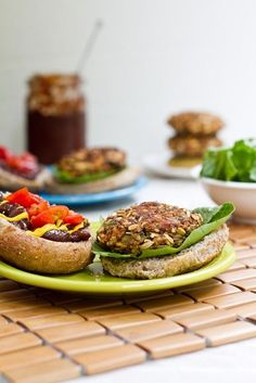 Crunchy, chewy, with a crispy outer shell, these delicious veggie burgers have all the right elements we love in a veggie burger.