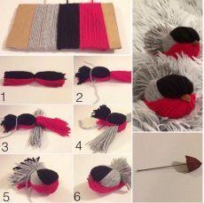 Hobbies For Women Info: 1745835415 Bird Crafts, Nature Crafts, Easter Crafts, Diy And Crafts, Diy For Kids, Crafts For Kids, Yarn Animals, Diy Ostern, Hobbies To Try