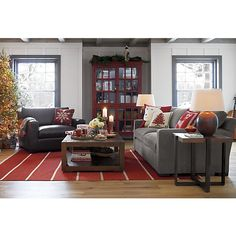 Axis II 2-Seat Sofa in Sofas | Crate and Barrel - front room idea. Also love that red cabinet.